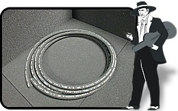 Flame resistant fresh air hose Black