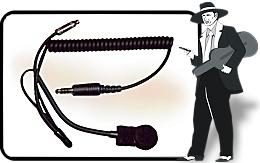 IMSA Helmet Mic w/Coil Cord